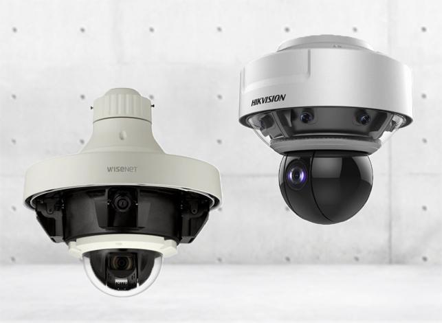 360° Panorama Dome mit PTZ Überwachungskamera