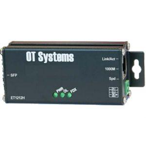 OT Systems ET1212H-S-MT Medienkonverter, 1x RJ45 1Gbit, 1x SFP 1Gbit, -40+75°C, Minimodul