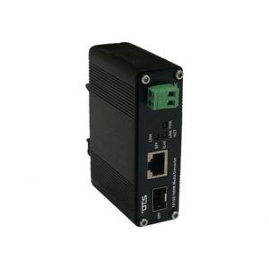 OT Systems ET1111PpH-S-DR Medienkonverter, 1x RJ45 100Mbit, 1x SFP 100Mbit, PoE+, -40+75°C, Modul