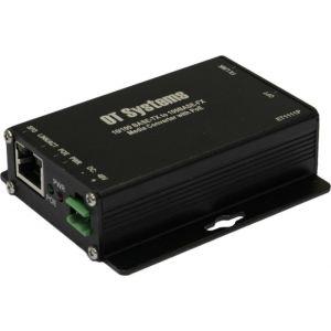 OT Systems ET1111P-B Medienkonverter, 1 Port Single Mode, 2-Fiber, Micro, PoE 10/100BaseTX/100BaseFX, SC