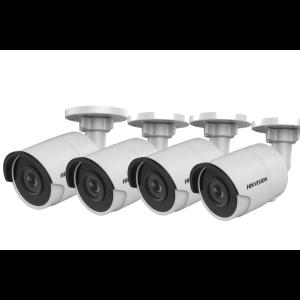 HIKVision KAMERA-SET 4x DS-2CD2045FWD-I(2.8mm) IP Bullet Kamera 4 MP Full HD Outdoor