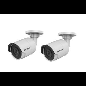 Hikvision KAMERA-SET 2x DS-2CD2043G0-I/32GS(2.8mm)(EU) IP Bullet Kamera 4MP Full HD Outdoor