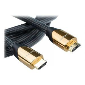 Roline Premium - HDMI mit Ethernetkabel - HDMI (M) bis HDMI (M) - 2 m - Doppelisolierung - Nylon Black