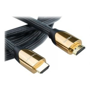 Roline Premium - HDMI mit Ethernetkabel - HDMI (M) bis HDMI (M) - 3 m - Doppelisolierung - Nylon Black