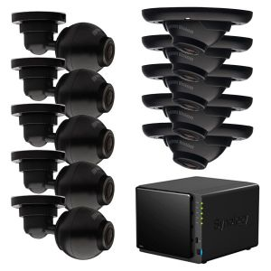 Überwachungsset Synology 10 Kanal NVR DS414 + Arecont Vision Mega Ball 3MP Full HD Indoor