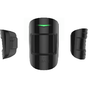 Ajax CombiProtect drahtloser Indoor Bewegungs- und Glasbruchmelder in Farbe schwarz