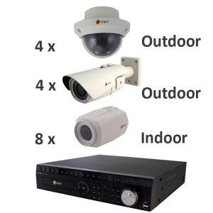 ENEO HDTVI Video Überwachungsset 16 Kanal 2MP Full HD Indoor / Outdoor (IR-LED)