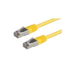 ROLINE S/FTP Patchkabel Kat.5e gelb 0,5m-20m