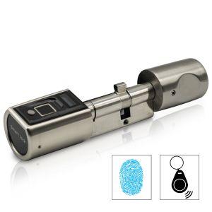 SOREX FLEX 2.0 Fingerprint & RFID Zylinder (längenverstellbar, batteriebetrieben)