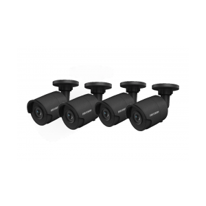 HIKVision KAMERA-SET 4x DS-2CD2043G0-I(2.8mm)(Black) IP Bullet Kamera 4 MP Full HD Outdoor