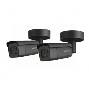 HIKVision KAMERA-SET mit  2x DS-2CD2645FWD-IZS(BLACK)(2.8-12mm) IP Bullet Kamera 4 MP Full HD Outdoor