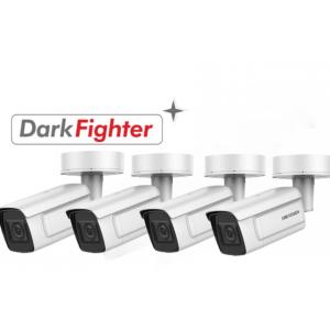 HIKVision KAMERA-SET mit 4x DS-2CD5A46G1-IZHS(8-32mm) IP Bullet Kamera 4MP Full HD Darkfighter
