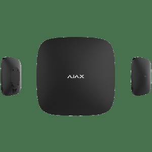 Ajax HUB PLUS Funk-Alarmzentrale mit vier Kommunikationskanälen WLAN, Ethernet, WCDMA und GSM  in Farbe schwarz