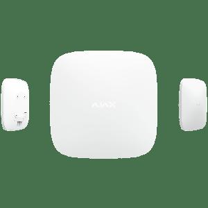 Ajax HUB PLUS Funk-Alarmzentrale mit vier Kommunikationskanälen WLAN, Ethernet, WCDMA und GSM  in Farbe weiß