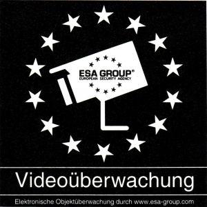 """Sicherheitsaufkleber """"Videoüberwachung"""" von German Protect"""