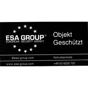 """Sicherheitsaufkleber """"Alarmüberwacht"""" von German Protect"""