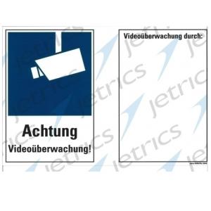Jetrics JETSIGN-VÜ-2030K/1 Schild Videoüberwachung