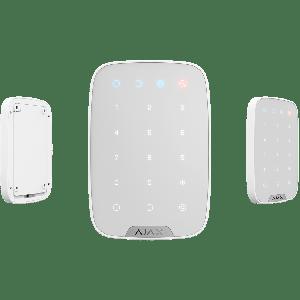 Ajax KeyPad Funk-Bedienteil Touch-Tastatur in Farbe  weiß