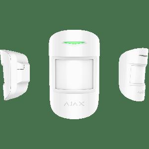 Ajax MotionProtect Plus drahtloser Funk Dual- Bewegungsmelder mit Mikrowellensensor in Farbe weiß