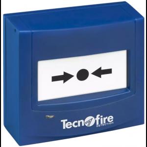 Tecnofire TF-CP-ES adressierbarer Druckknopfmelder blau