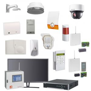 Videofied & Telenot Funkalarmanlage Komplettset professional für Innen- & Außenbereich Überwachung Set 1 inkl. HIKVision Set mit 6 PTZ Dome Kameras, 1 NVR und 1 Monitor mit Alarmverifikation