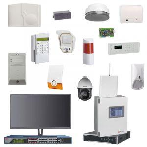 Videofied & Telenot Funkalarmanlage Komplettset professional für Innen- & Außenbereich Überwachung Set 2 inkl. HIKVision Set mit 6 PTZ Kameras, 1 Switch, 1 NVR, 1 Monitor  inklusive Alarmaufschaltung auf die Notrufleitstelle 24/7/365