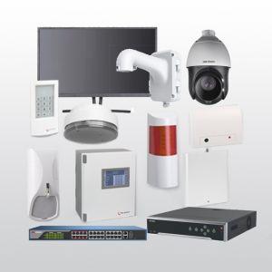 Telenot Funkalarmanlage Komplettset professional mit Außenbereich Videoüberwachung Set 9 inkl. HIKVision Set mit 6 Kameras, 1 Switch, 1 NVR und 1 Monitor