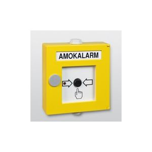 Telenot Handmelder gelb Alu AMOKALARM CT 3000 PBD-Alu-G