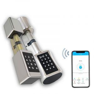 SOREX SMART WiFi Zylinder RFID & Code & Handy Außenknauf Durchmesser 53mm