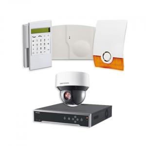 Videofied Funkalarmanlage Komplettset professional für Außenbereich Überwachung inkl. HIKVision Videoset 3 mit 4 PTZ Dome Kameras und NVR 4TB