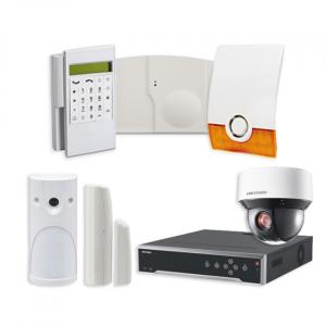 Videofied Funkalarmanlage Komplettset professional für Innen- sowie Außenbereich Überwachung inkl. HIKVision Videoset 4 mit 4 PTZ Dome Kameras und NVR 4TB