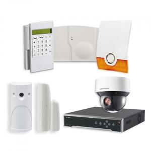 Videofied Funkalarmanlage Komplettset professional  für Außenbereich Überwachung inkl. HIKVision Videoset 7 mit 4 Kameras
