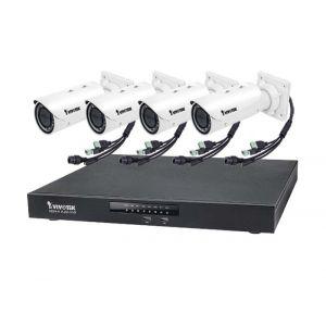 VIVOTEK Überwachungsset NVR ND9441 + 4x IP Bullet Kamera IB9371HT 3MP Full HD