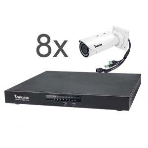 VIVOTEK Überwachungsset NVR ND9541 + 8x IP Bullet Kamera IB9371HT 3MP Full HD