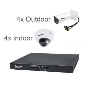 VIVOTEK Überwachungsset 4x IB9381-HT 5MP + 4x FD9171HT 3MP + NVR ND9541
