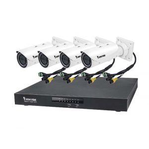 VIVOTEK Überwachungsset NVR ND9441 + 4x IP Bullet Kamera IB9381-HT 5MP Full HD