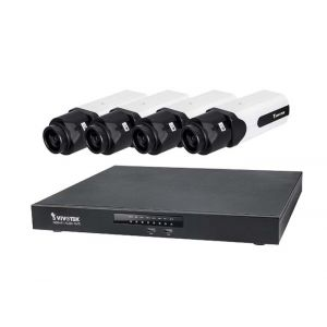 VIVOTEK Überwachungsset NVR ND9441 + 4x IP Box Kamera IP9181-H 5MP Full HD