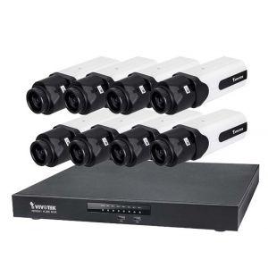 VIVOTEK Überwachungsset NVR ND9541 + 8x IP Box Kamera IP9181-H 5MP Full HD