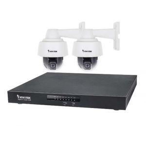 VIVOTEK Überwachungsset NVR ND9441 + 2x PTZ IP Dome Kamera SD9361-EHL 2MP Full HD