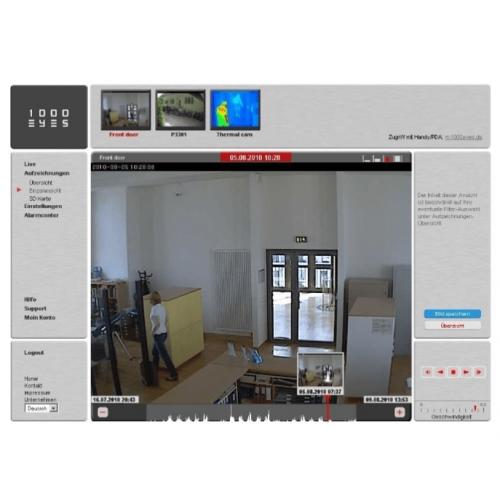 1000Eyes BASIC 2014 4CH 1 Jahr Hosted Video Lizenz