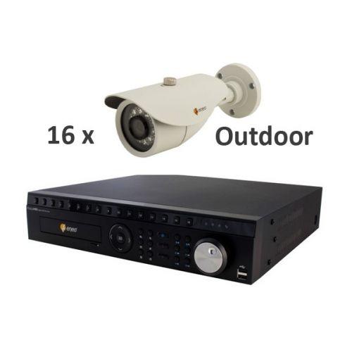 ENEO Video Überwachungsset 16 Kanal 1.3MP HD Outdoor (IR-LED)