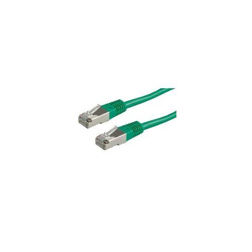 ROLINE S/FTP Patchkabel Kat.5e grün 0,5m-20m