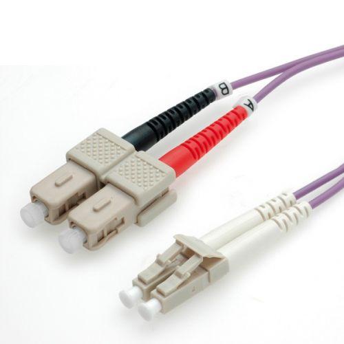 ROLINE LWL Kabel 50/125µm OM4 LC/SC violett 0,5m-10m