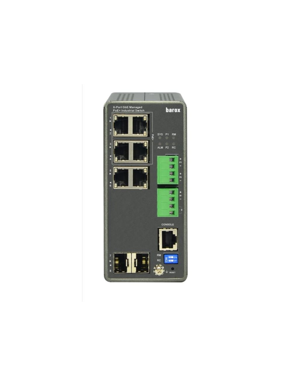 barox RY-LPIGE-602GBTME Ethernet Switch DIN-RAIL