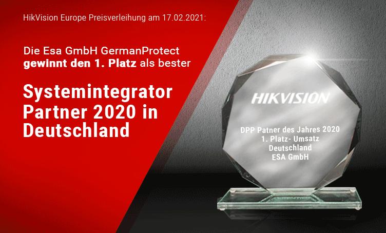 Preisverleihung Hikvision Award für ESA GmbH GermanProtect
