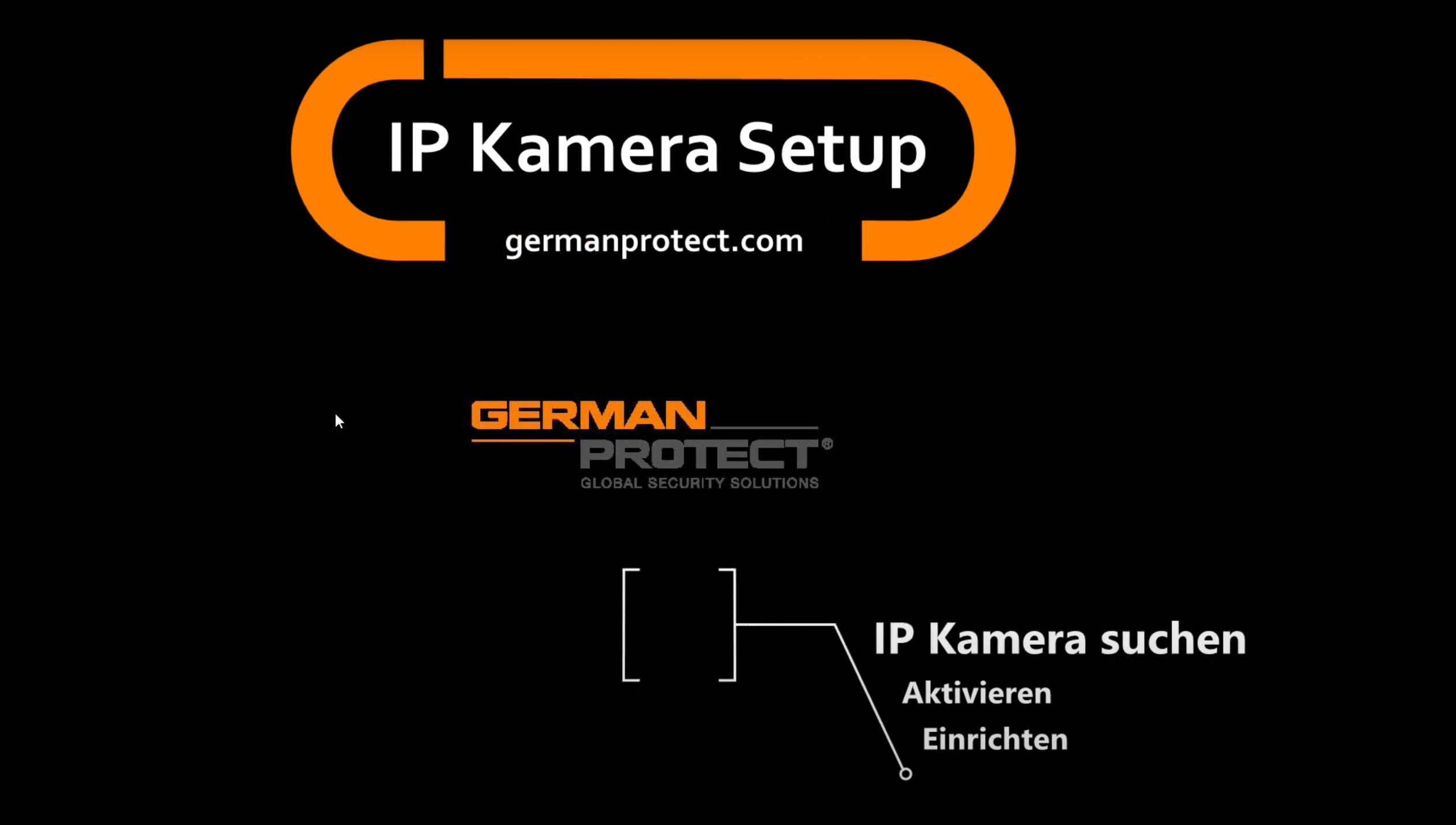 Wie richte ich eine IP Kamera richtig ein?
