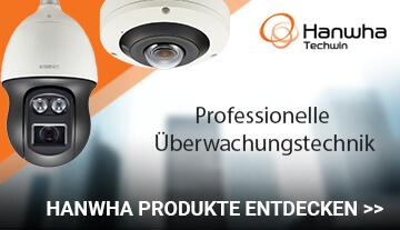 Hanwha Techwin premium Sicherheitstechnik im Bereich der Kameraüberwachung.